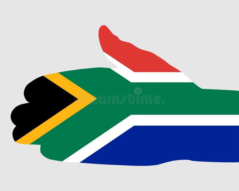 Prise de contact sud-africaine illustration libre de droits