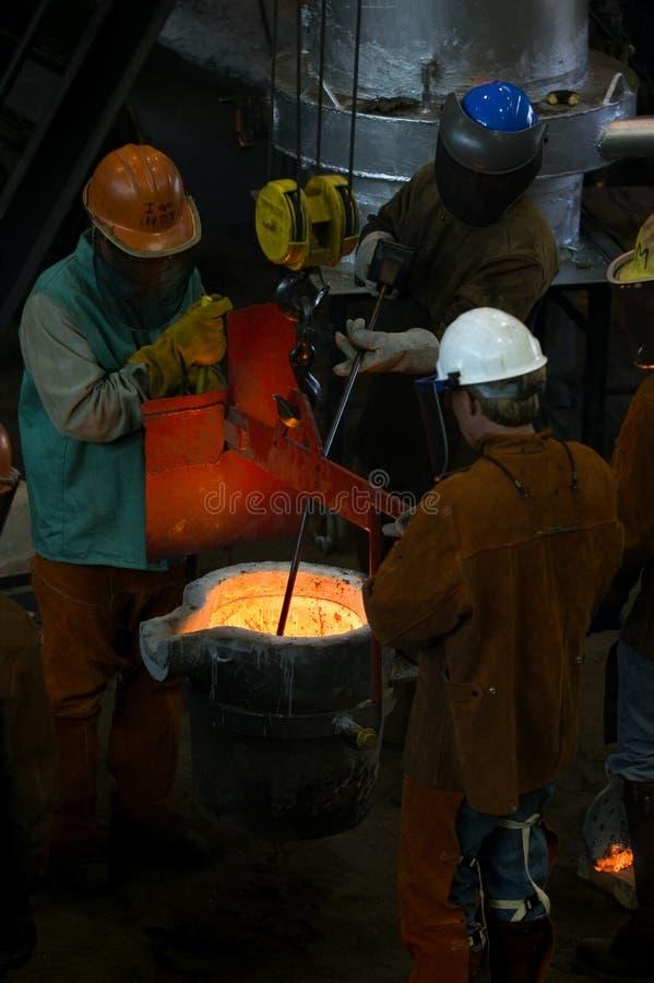 Prise de la température de l'en métal photographie stock libre de droits