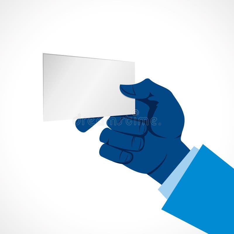 Prise de main la carte vierge illustration libre de droits