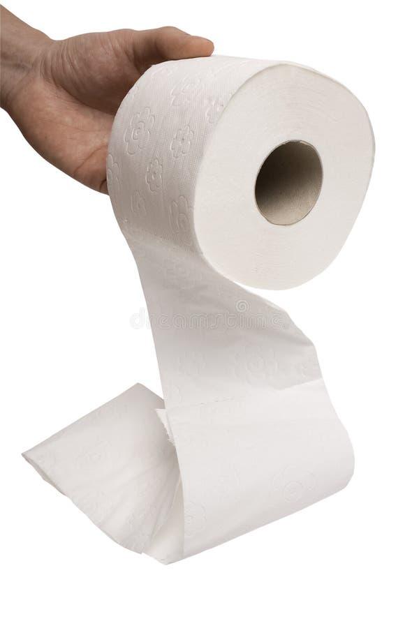 Prise de main pour le rouleau de papier hygiénique photographie stock libre de droits