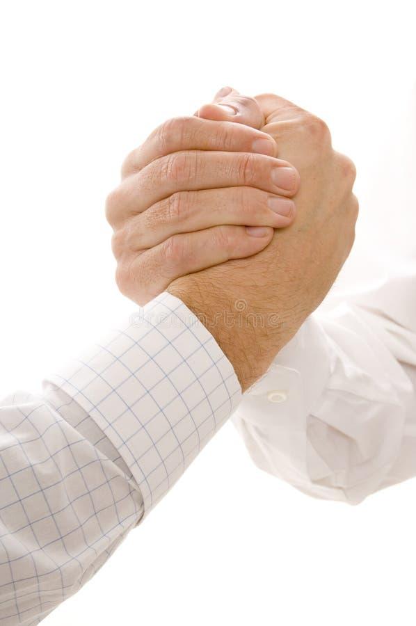 Prise de mains image libre de droits
