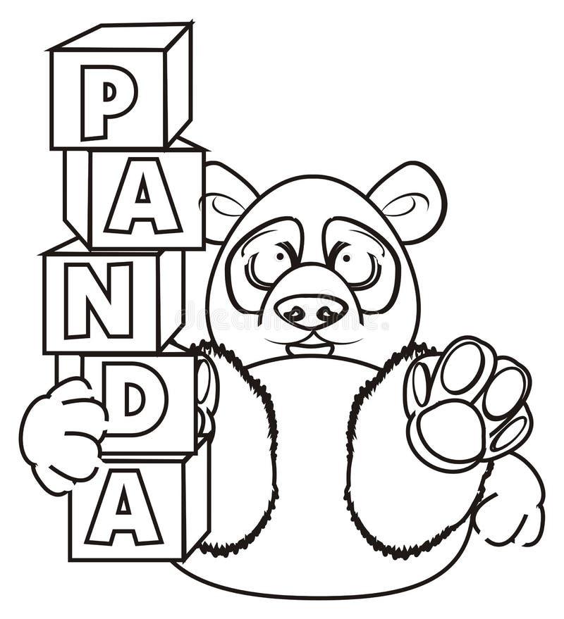Download Prise De Panda De Coloration Blocs Illustration Stock - Illustration du cartoon, emblème: 77150347