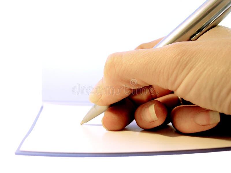 Prise des notes photo libre de droits