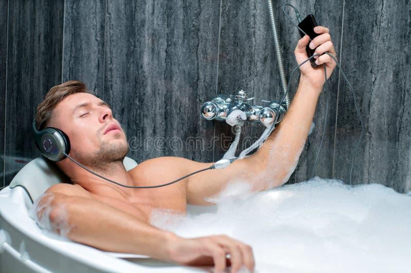 Prise du bain image libre de droits