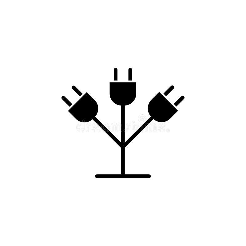 Prise, icône de pousse sur le fond blanc Peut être employé pour le Web, logo, l'appli mobile, UI UX illustration libre de droits