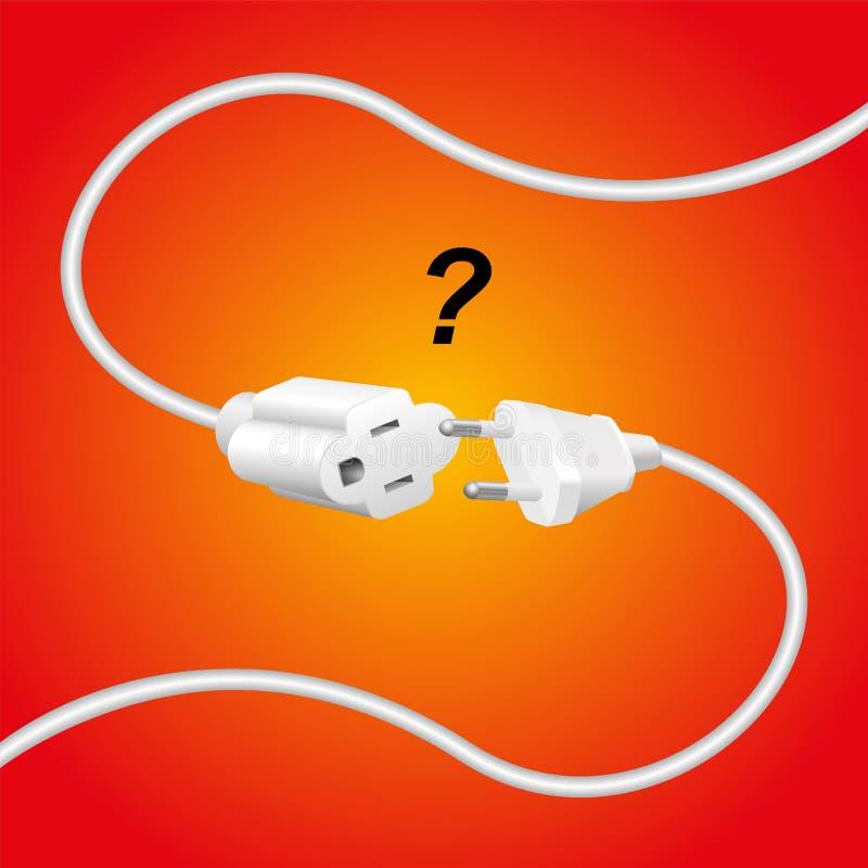 Prise inexacte de câble d'extension illustration de vecteur