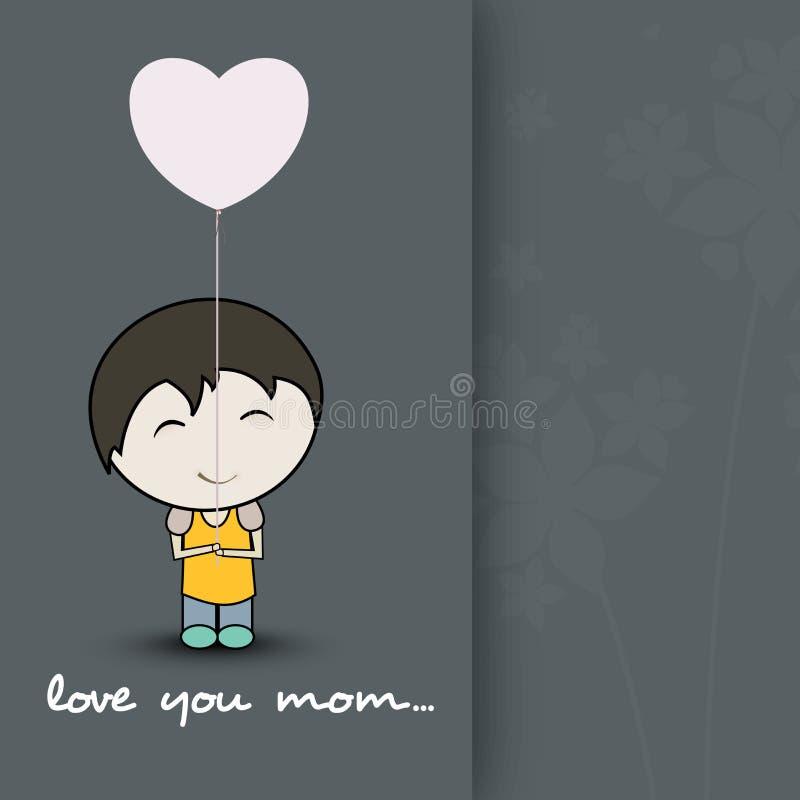 Célébration heureuse de jour de mères. illustration de vecteur