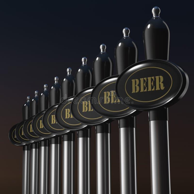 Prise traditionnelle de bière pression illustration libre de droits