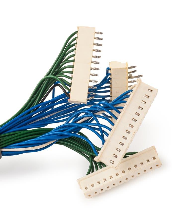 Prises électriques avec le fil photo libre de droits