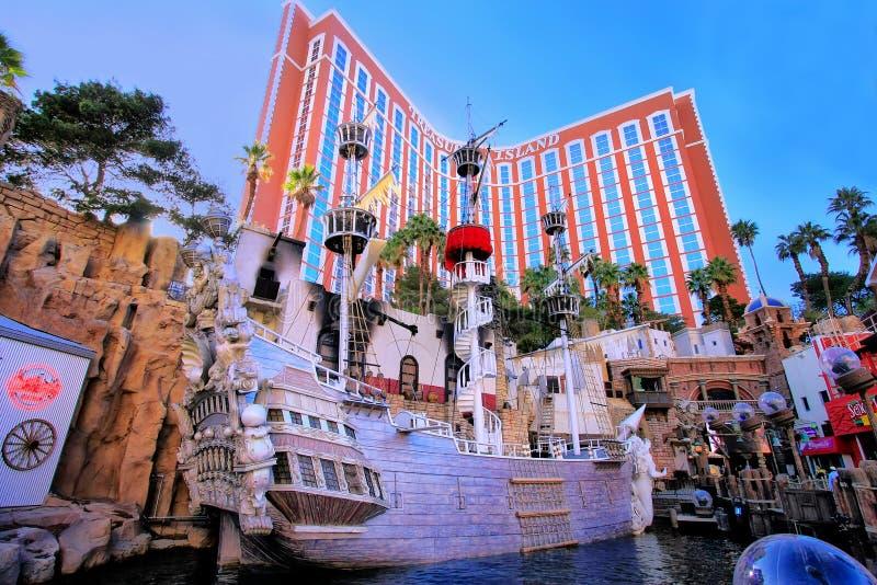 Prisez l'hôtel d'île et le casino, Las Vegas, Nevada image libre de droits