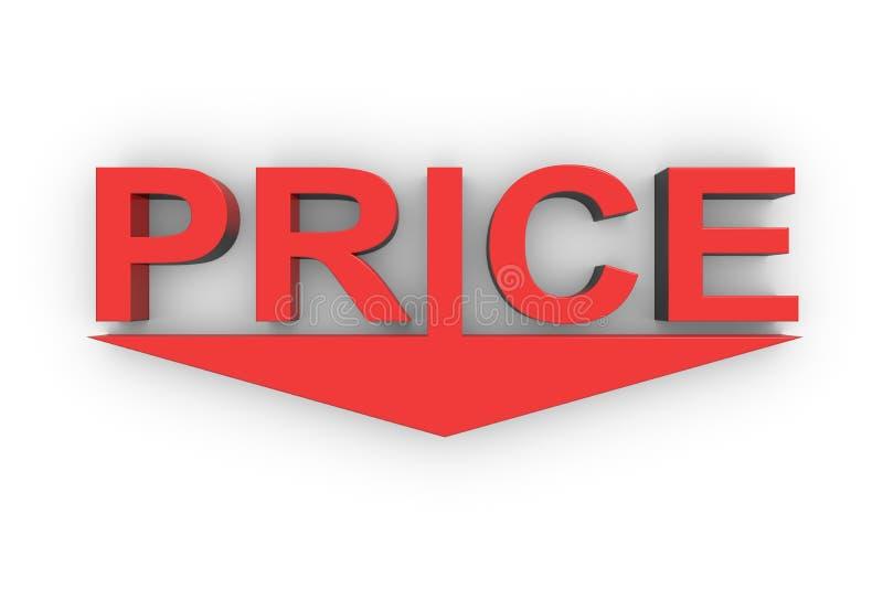 Prisförminskning stock illustrationer