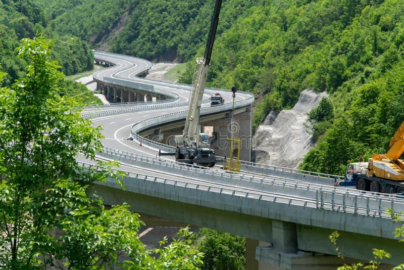 """Prishtina, il Kosovo - """"costruzione hightway di Arbën Xhaferi """" fotografia stock libera da diritti"""