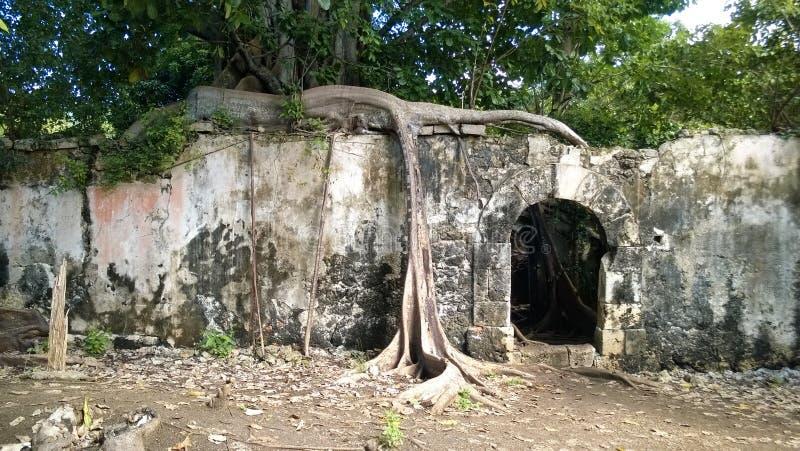 Prisión auxiliar anterior en el canal pequeno en Guadalupe fotografía de archivo libre de regalías