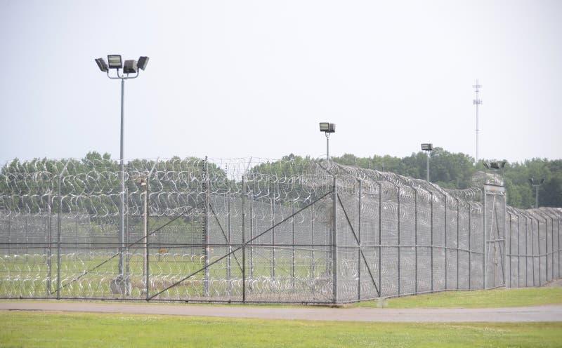 Prisión correccional de la seguridad máxima fotografía de archivo