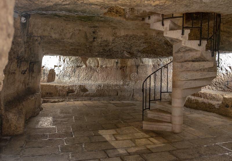 Prisión de Jesus Christ, prisión de los ladrones y de Barabbas, Jerusalén fotos de archivo libres de regalías