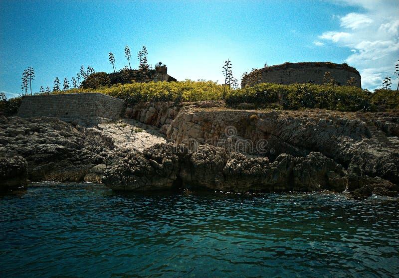Prisión de Mamula en el medio del mar imágenes de archivo libres de regalías