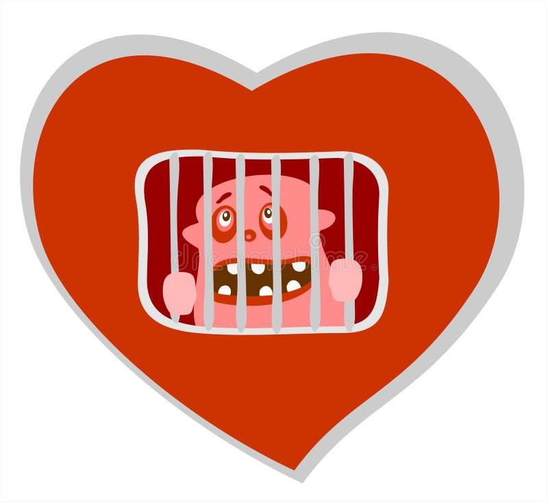 Prisión del corazón fotografía de archivo libre de regalías