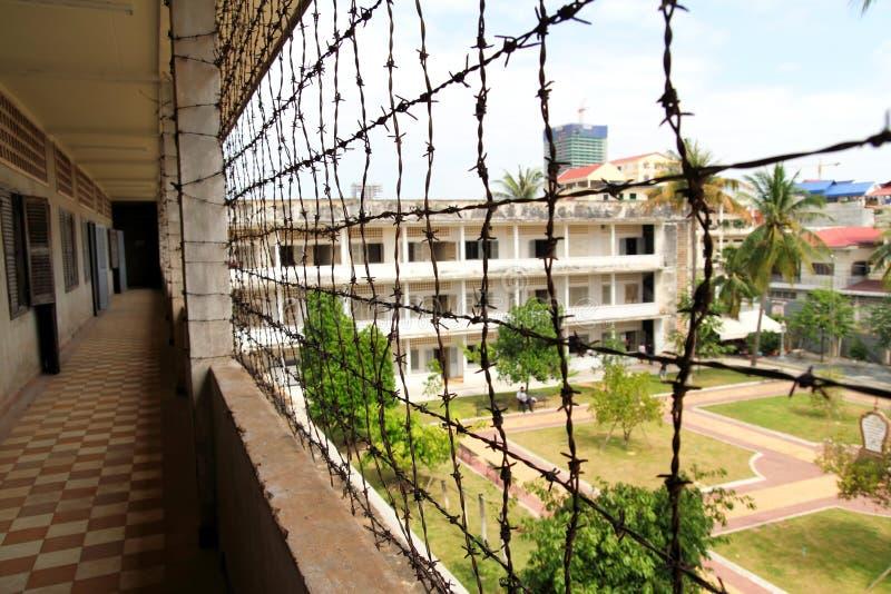 Prisión en el museo del genocidio de Tuol Sleng foto de archivo libre de regalías
