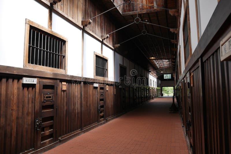 Prisión interior de Abashiri, Hokkaido, Japón fotos de archivo libres de regalías