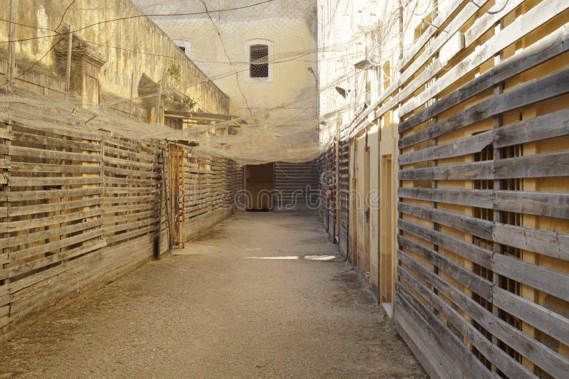 prisión militar anterior foto de archivo
