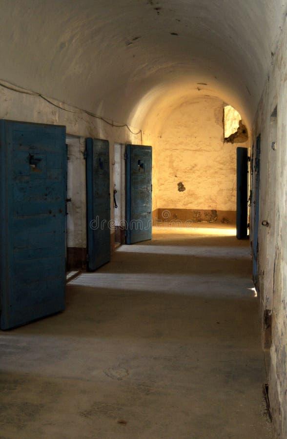 Prisión militar anterior de los vestíbulos foto de archivo libre de regalías