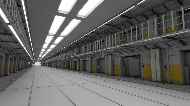 Prision futuristico illustrazione vettoriale