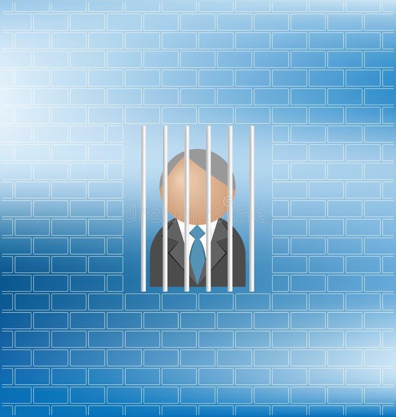 Prisioneiro ilustração stock
