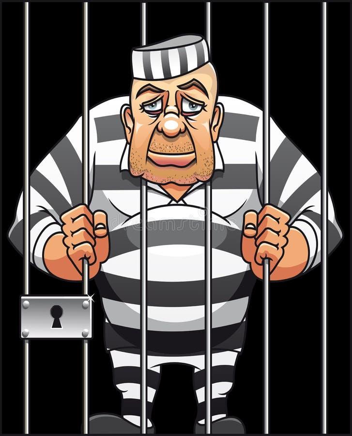 Prisioneiro ilustração royalty free