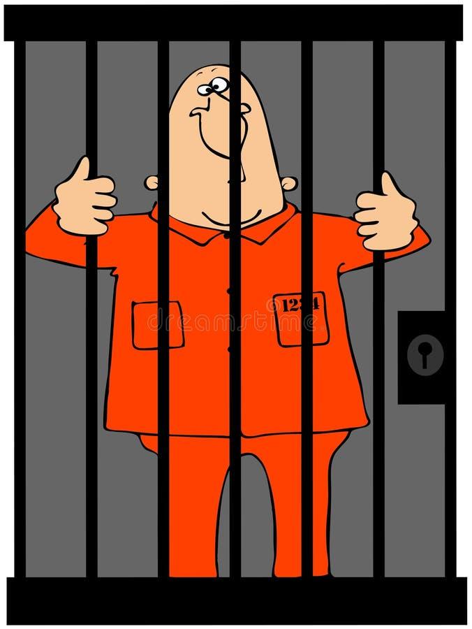 Prisioneiro ilustração do vetor