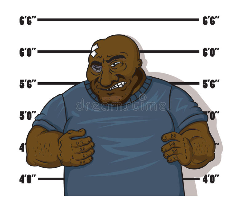 Prisioneiro afro-americano ilustração stock
