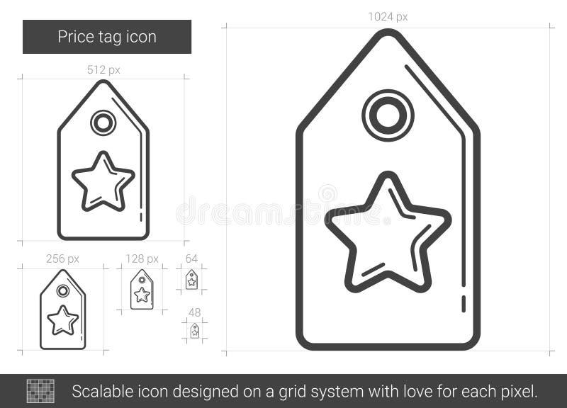 Prislapplinje symbol vektor illustrationer