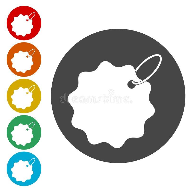 Prislappsymbolsuppsättning vektor illustrationer