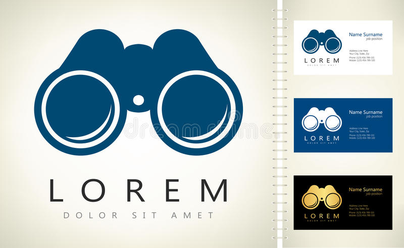 prismáticos Escoja el ejemplo del icono de los prismáticos del hockey shinny libre illustration