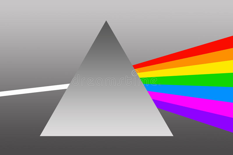 Download Prism stock illustration. Image of diffraction, glass - 17507541