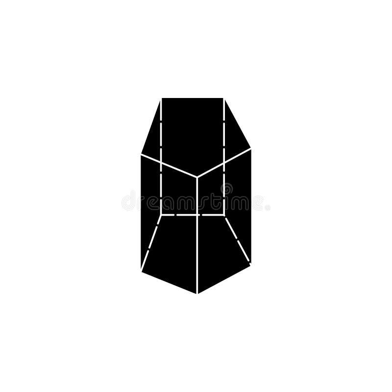 Geometric Shape Triangle Prism Logo Design Vector