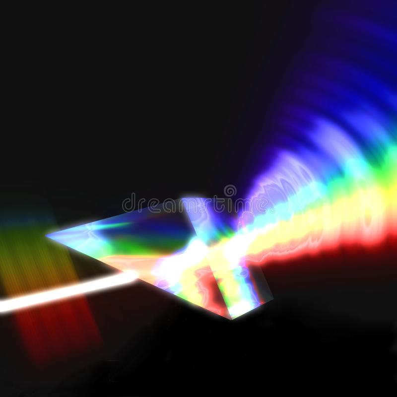 Prism Refracting Light Stock Photography
