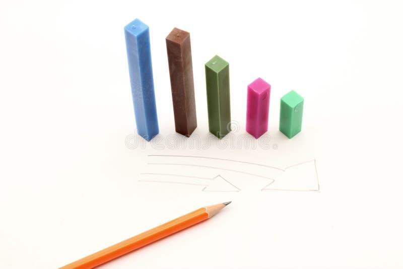Prisma del gráfico de la economía fotografía de archivo