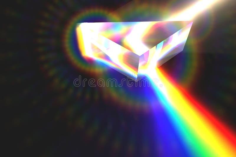 Prisma en regenboog stock illustratie