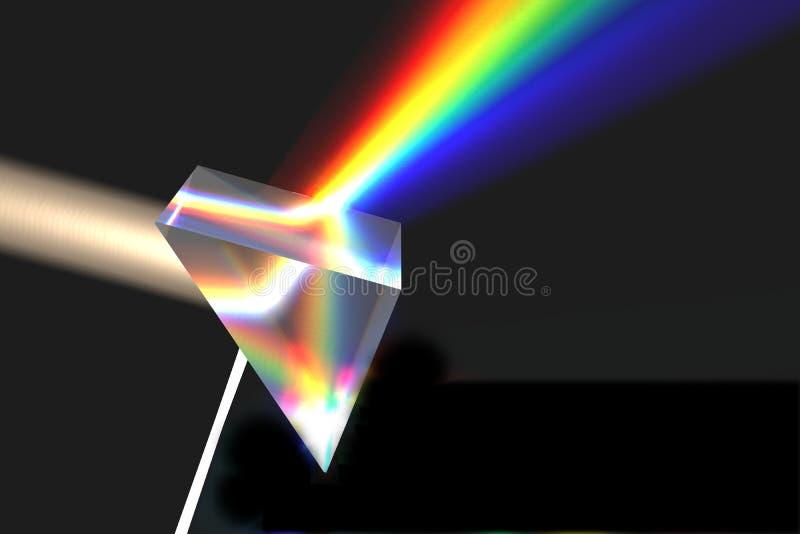 Prisma op zwarte stock illustratie