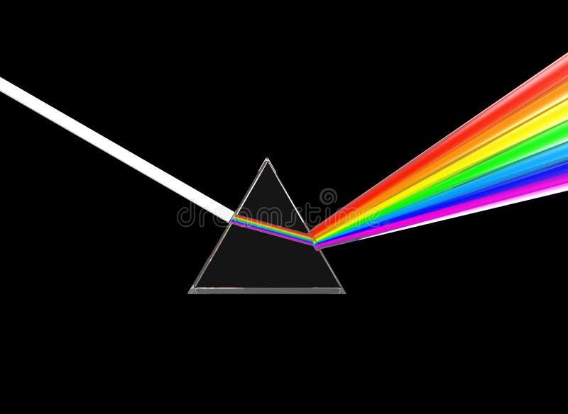 Prisma que divide a luz ilustração do vetor