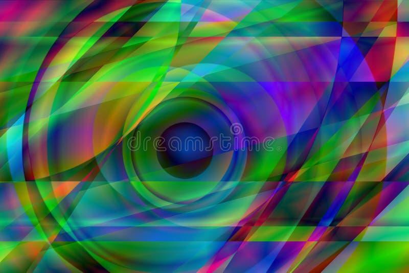 prismatic öga stock illustrationer