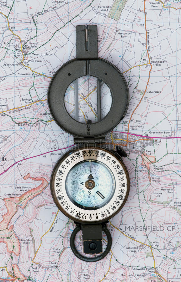 Free Prismatic Compass Stock Image - 12172121