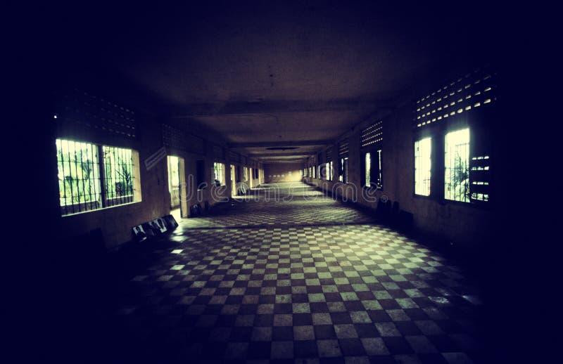 Prison. S21 prison of Pol Pot from Cambodia. (film scan stock image