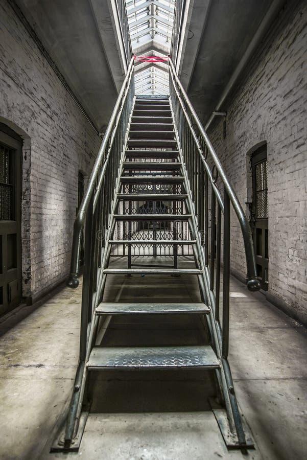 Prison. An ancient prison, Dalian, China stock photography
