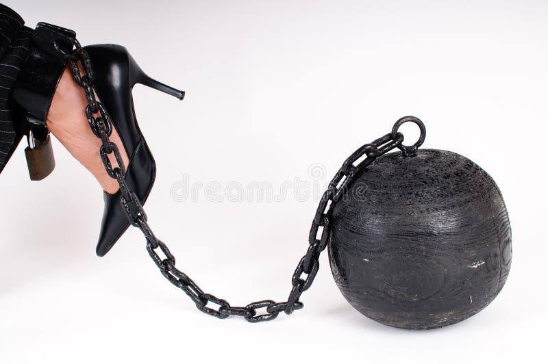 Prison ball stock photography