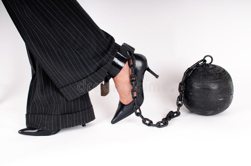 Prison ball royalty free stock images