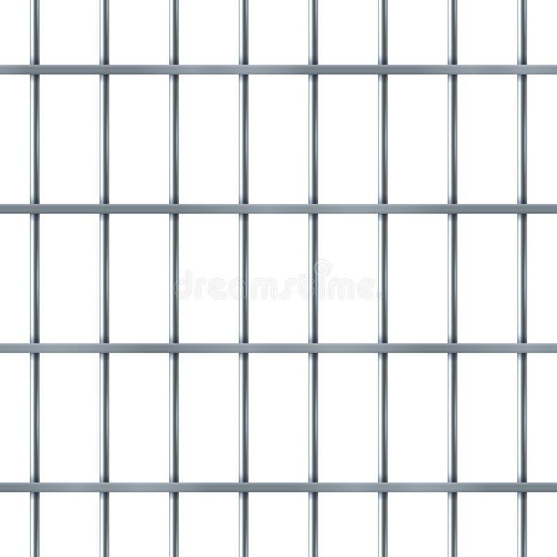Prison bar realistic pattern, criminal iron jail royalty free illustration