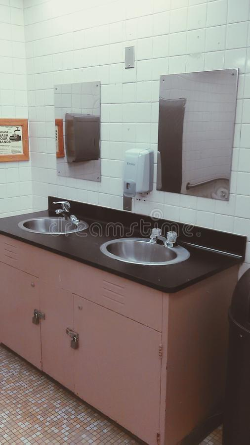 Prison bathroom royalty free stock photos