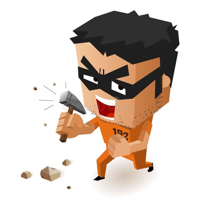 Download Prison Break stock vector. Image of gangster, prison - 30312334