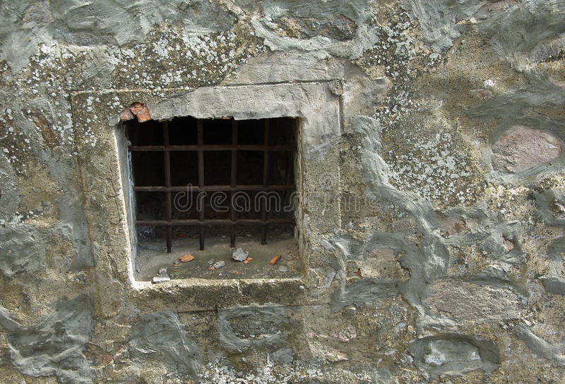Prison cell window stock images